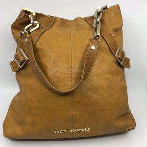 Juicy Couture Brown Leather Flat Shoulder Bag